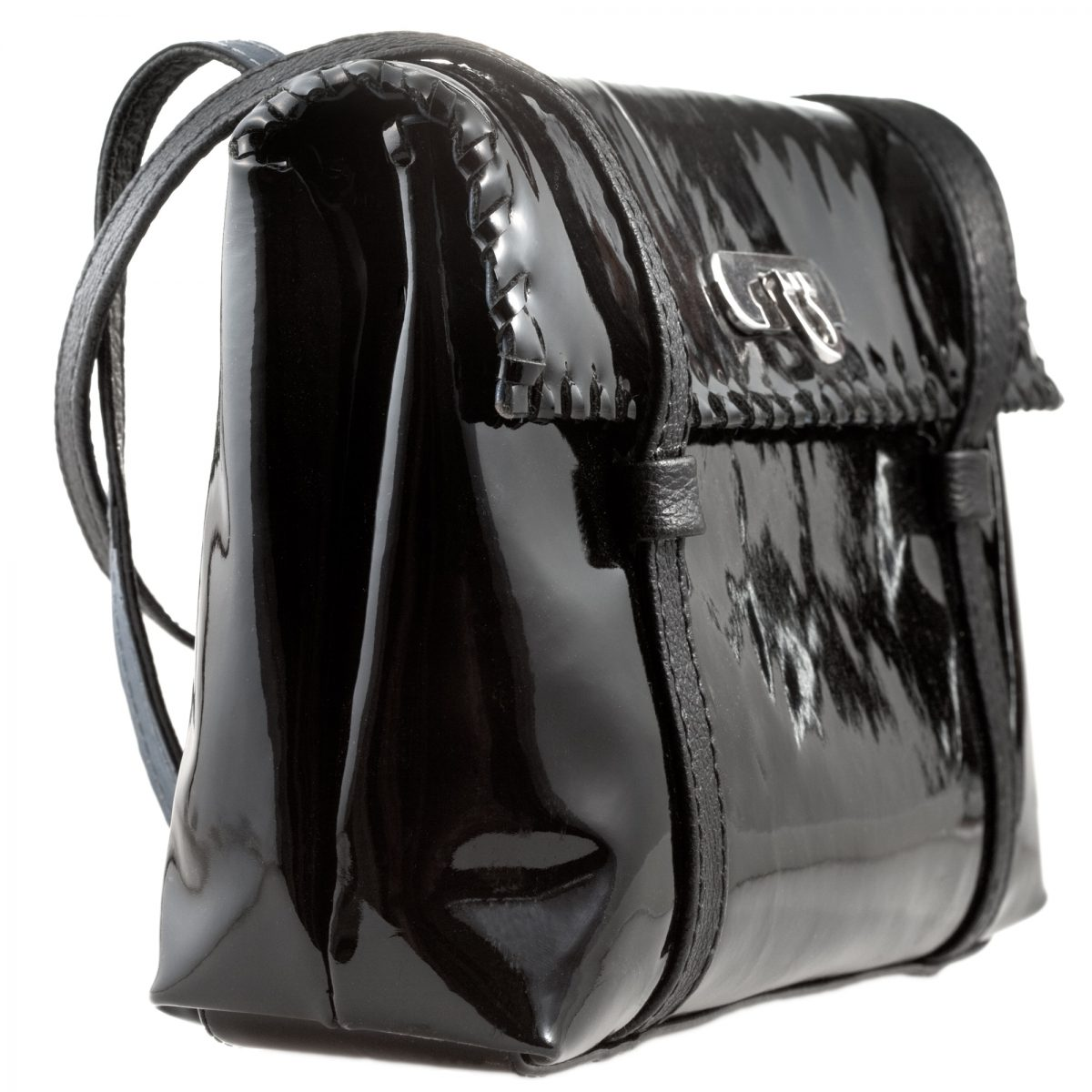 black patent leather lady's bag