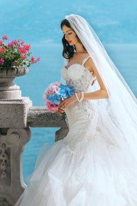 white bride pictures