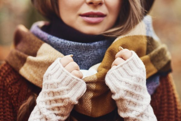 Gorgeous young woman wearing winter clothes