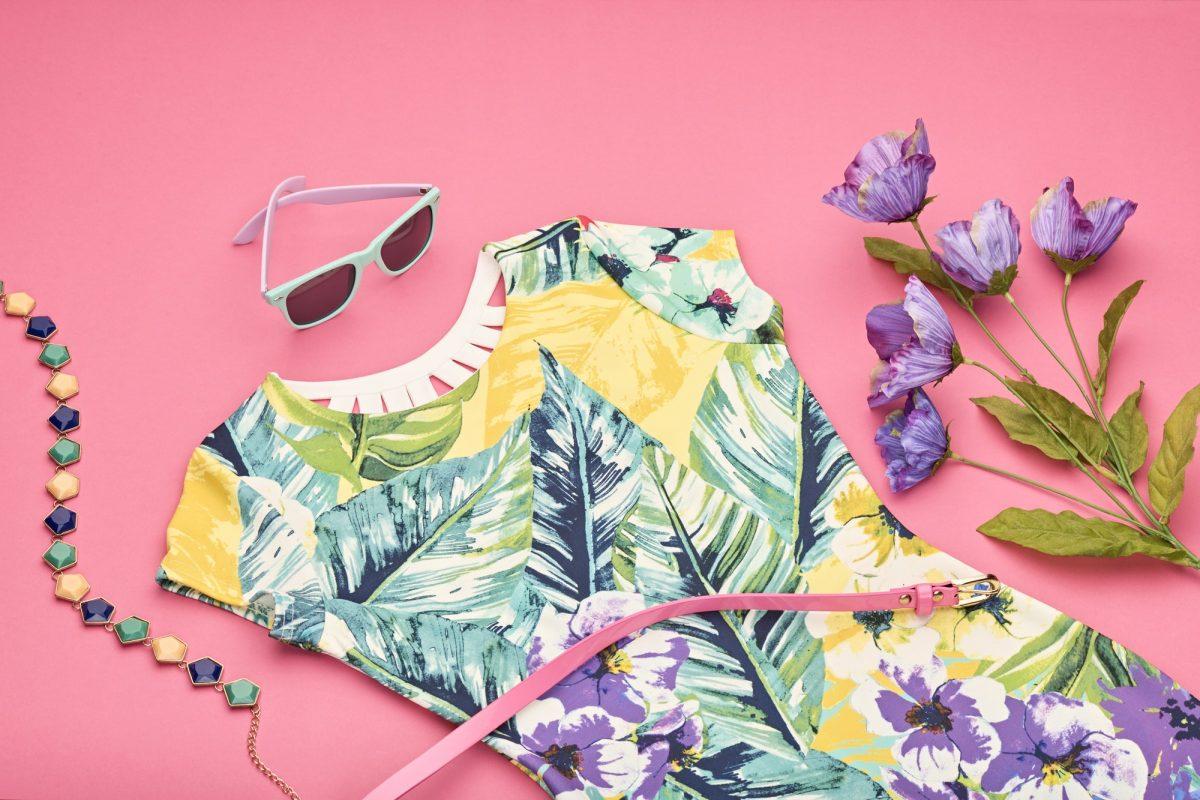 Spring Design Fashion girl clothes set.Perspective